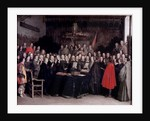 The Swearing of the Oath of Ratification of the Treaty of Munster by Gerard ter Borch or Terborch