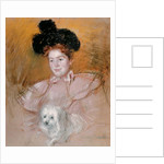 Woman holding a dog by Mary Stevenson Cassatt
