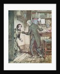 Scrooge and Bob Cratchit by Arthur Rackham