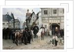General Blucher with the Cossacks in Bautzen by Bogdan Willewalde