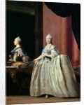 Empress Catherine II before the mirror by Vigilius Erichsen