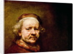 Self Portrait in at the Age of 63 by Rembrandt Harmensz. van Rijn