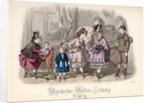 Children at Play, fashion plate from the 'Allgemeine Moden-Zeitung', Leipzig by Jules David