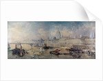Design for the Thames Embankment, view looking upstream by Thomas Allom