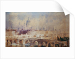Design for the Thames Embankment, view looking downstream by Thomas Allom
