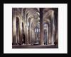 The Interior of St. Eustache, Paris by Thomas Allom