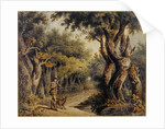 Forest Scene with Woodman and Dog by Thomas Barker of Bath