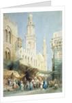 The Sharia El Gohargiyeh, Cairo by William Henry Bartlett