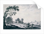Italian Landscape with Peasants and Animals on a Road by William Beilby