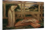 The Christ Child asleep on a Cross by William Blake
