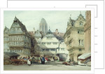 Market Place, Frankfurt by William Callow