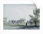 Entrance to Hyde Park at Hyde Park Corner by William Callow
