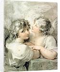 Two angels by Giovanni Battista Cipriani