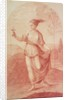 A Young Woman walking bare-footed in a Landscape by Giovanni Battista Cipriani