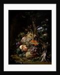 Still life of fruit by Abraham Mignon