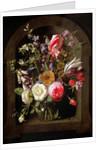 Roses, Tulips and other Flowers by Johannes Antonius van der Baren