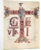 Initial 'T'; The Ascension of Christ by French School
