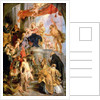 Enthroned Madonna with Child, Encircled by Saints by Peter Paul Rubens