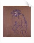 Aristide Bruant on a Bicycle by Henri de Toulouse-Lautrec