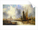View of London with St. Paul's by John Wilson Carmichael