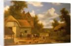 Farmyard Scene by Charles Vickers