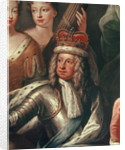 Detail of George I from the Painted Hall, Greenwich by Sir James Thornhill