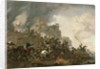 Cavalry Making a Sortie from a Fort on a Hill by Philips Wouwermans or Wouwerman