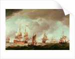 An English Vice-Admiral of the Red and his Squadron at Sea by Charles Brooking
