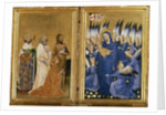 Richard II Presented to the Virgin and Child by his Patron Saint John the Baptist and Saints Edward and Edmund by Master of the Wilton Diptych