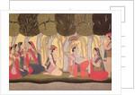 Radha and Krishna seated in a grove, Kulu, 1790-1800 by Pahari School