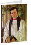 New College Cloisters: Portrait of John David Jenkins, 1852 by William Holman Hunt