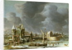 A View of the Regulierspoort, Amsterdam, in winter by Jan Abrahamsz. Beerstraten