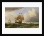 An English Ship Close-hauled in a Strong Breeze by Willem van de