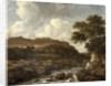 Mountainous Wooded Landscape with a Torrent by Jacob Isaaksz. or Isaacksz. van Ruisdael