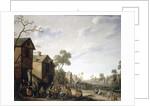 A Village Street Scene by Joost Cornelisz. Droochsloot