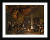A Village Wedding Feast with Revellers and a dancing Party by Jan Havicksz. Steen