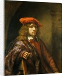 Portrait of a young man in a red cap by Samuel van Hoogstraten