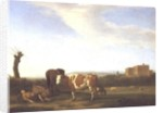A Pastoral Landscape with a Sleeping Herdsman by Adriaen van de Velde