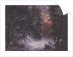 Snow Scene in the Black Forest by Carl Friedrich Wilhelm Trautschold