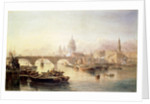 St. Paul's Cathedral and London Bridge by Edward Angelo Goodall