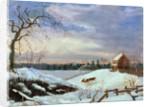 Snow scene, New England by American School