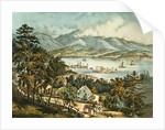 The Catskill Mountains from the Eastern shore of the Hudson by N. and Ives