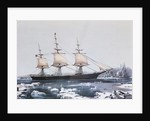 """Clipper Ship """"Red Jacket"""" in the ice off Cape Horn on her passage from Australia to Liverpool by American School"""
