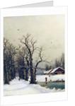 Winter scene by Nils Hans Christiansen