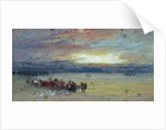 Shore Scene, Sunset by Joseph Mallord William Turner