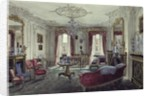 Interior of a drawing room in a town house by Samuel A. Rayner