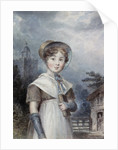 Little Girl in a Quaker Costume, holding a Bible by Isaac Pocock