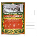 Early timetable for the London to Dover Railway by English School