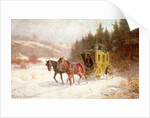 The Post Coach in the Snow by Fritz van der Venne