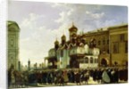 Easter procession at the Maria Annunciation Cathedral in Moscow by Karl-Fridrikh Petrovich Bodri